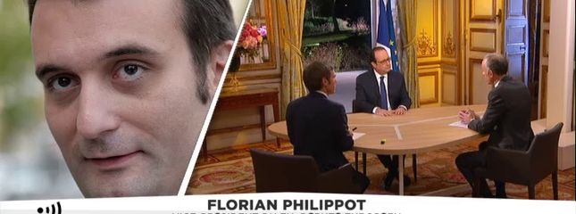 "video Intervention de Hollande : Philippot qualifie le président de ""porte-parole de la commission de Bruxelles"""